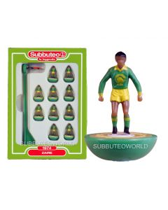 ZAIRE. Retro Subbuteo Team. Modelled on the LW Figure & Bases From the 1980's. Some Box Damage.