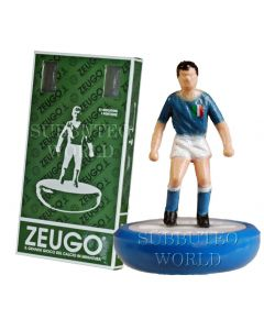 ITALY 1ST. MADE BY ZEUGO. REF 022. Blue Bases, White Discs.