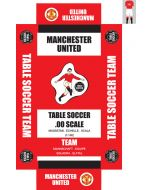 MANCHESTER UTD 1ST. self adhesive team box labels.