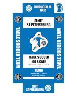 ZENIT ST PETERSBURG. self adhesive team box labels.