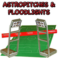 Subbuteo Pitches and Floodlights